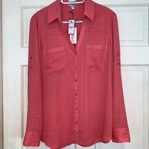 EXPRESS PORTOFINO Long Sleeve Button Shirt Blouse